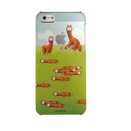 カスタムカバーiPhone5(アルパカにいさん 草原)