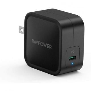 RAVPower 61W USB-C 急速充電器 世界最小最軽量クラス GaN採用/PD対応 ブラック【4月中旬】