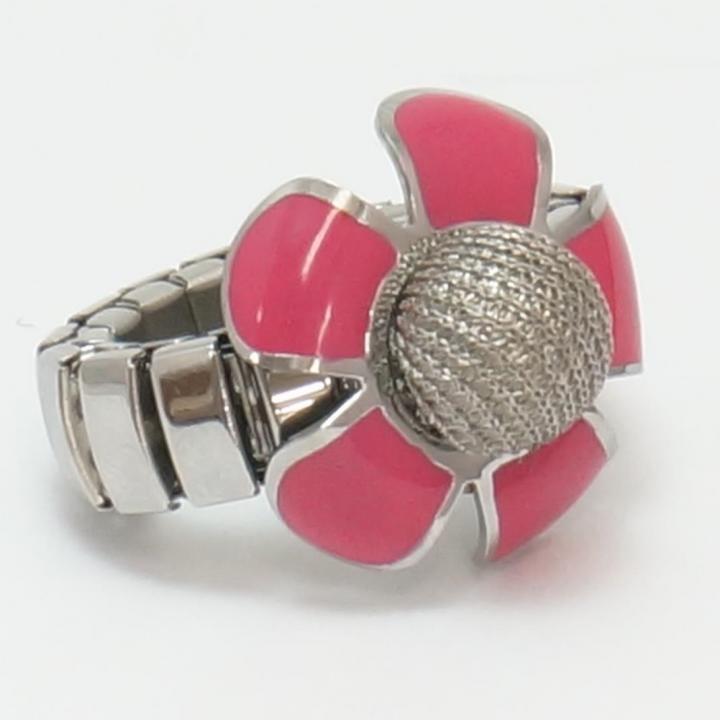 リング型タッチペン MYZON TOUCH RING FLOWER ピンク