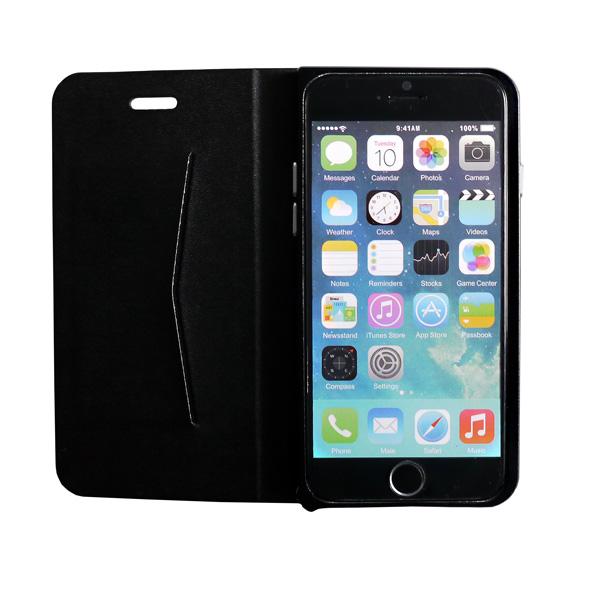 【iPhone6ケース】手帳×アルミバンパーケース Cuoio 黒×ブラック iPhone 6_0