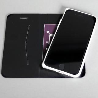 【iPhone6ケース】手帳×アルミバンパーケース Cuoio 黒×シルバー iPhone 6_2