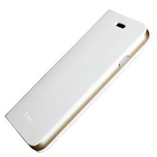 【iPhone6ケース】手帳×アルミバンパーケース Cuoio 白×ゴールド iPhone 6_1