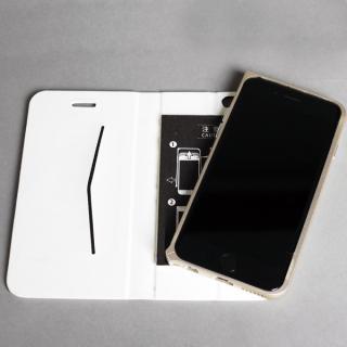 【iPhone6ケース】手帳×アルミバンパーケース Cuoio 白×ゴールド iPhone 6_2
