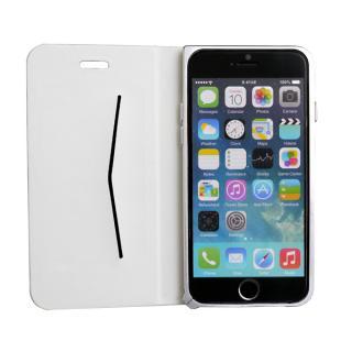 手帳×アルミバンパーケース Cuoio 白×シルバー iPhone 6