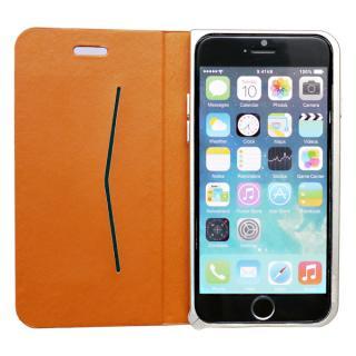 手帳×アルミバンパーケース Cuoio 茶×ゴールド iPhone 6