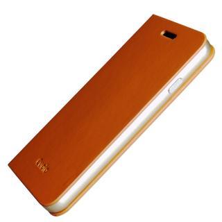 【iPhone6ケース】手帳×アルミバンパーケース Cuoio 茶×ゴールド iPhone 6_1