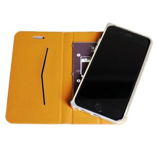 【iPhone6ケース】手帳×アルミバンパーケース Cuoio 茶×ゴールド iPhone 6_2