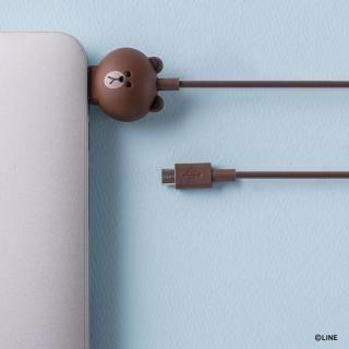 [1m]LINE FRIENDS 充電&データ Micro USBケーブル ブラウン_2