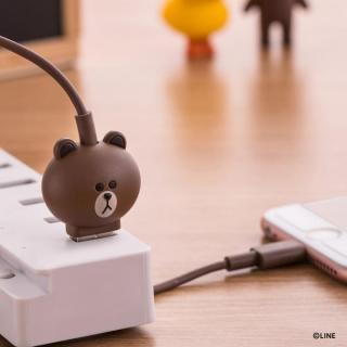[1m]LINE FRIENDS 充電&データ Micro USBケーブル ブラウン_3