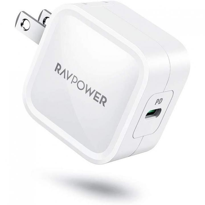 RAVPower 30W USB-C 急速充電器 最小クラス GaN (窒化ガリウム)採用/PD対応 ホワイト_0