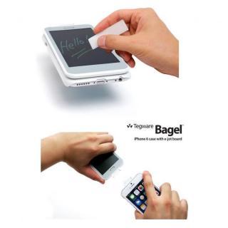 【iPhone6ケース】電子メモ+ハードケース Tegware Bagle360 シルバー iPhone 6_3