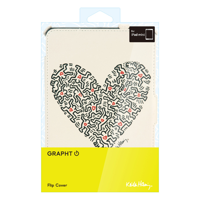 Keith Haring Collection Flip Cover  iPad mini/2/3Heart