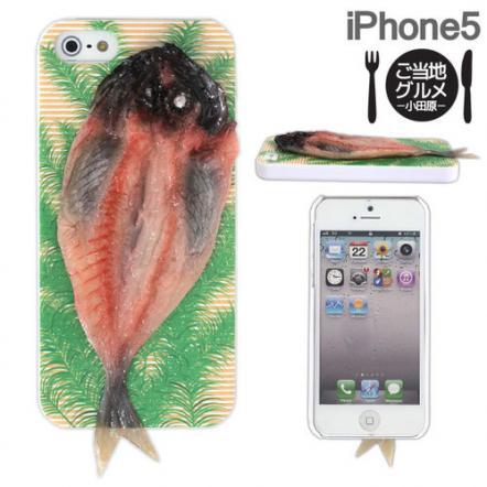 食品サンプルケース iPhone 5 アジの開き