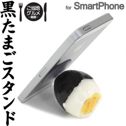 食品サンプルスマホスタンド 黒たまご iPhone 5s/5c/5/4s/4
