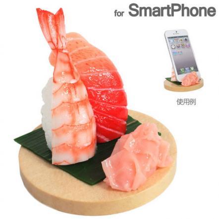 食品サンプルスマホスタンド トロ・エビ iPhone 5s/5c/5/4s/4/Android