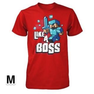 マインクラフト Like a Boss Tシャツ Mサイズ