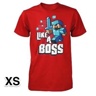 マインクラフト Like a Boss Tシャツ XSサイズ_0
