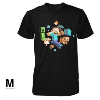 マインクラフト 逃げろ! 畜光Tシャツ Mサイズ