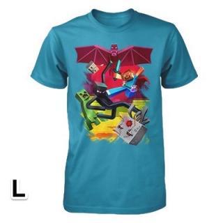 マインクラフト キューブバトル Tシャツ Lサイズ