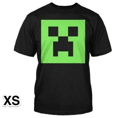 マインクラフト クリーパー 畜光Tシャツ XSサイズ_0
