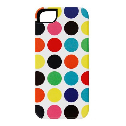 iPhone SE/5s/5 ケース icover iPhone5用ケース TEシリーズ ポルカドット AS-IP5FT-PD_0