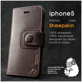 AEJEX iPhone5用手帳型ケース ダークブラウン AS-AJIP5D-DB