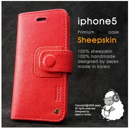 AEJEX iPhone5用手帳型ケース レッド AS-AJIP5D-RD