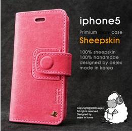 AEJEX iPhone5用手帳型ケース ピンク AS-AJIP5D-PK