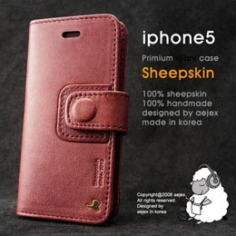 iPhone SE/5s/5 ケース AEJEX iPhone5用 手帳型ケース DIARYタイプ ワイン AS-AJIP5D-WI