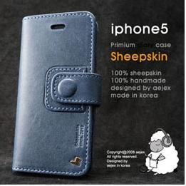 AEJEX iPhone5用手帳型ケース ブルー AS-AJIP5D-BL