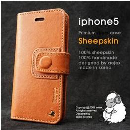 AEJEX iPhone5用 手帳型ケース DIARYタイプ ブラウン AS-AJIP5D-BW