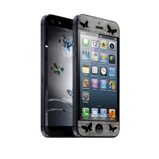 icover デザイナーズフィルム iPhone5用 Butterfly AS-IP5F-BF