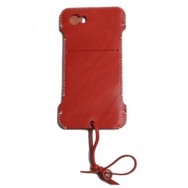 【iPhone SE/5s/5ケース】【iPhone5】 abicase 赤色 ウォレットジャケット