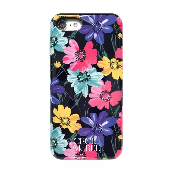 iPhone8/7/6s/6 ケース CECIL McBEE スタンドミラー付きカード収納型背面ケース スイートピー/BLACK iPhone 8/7/6s/6_0