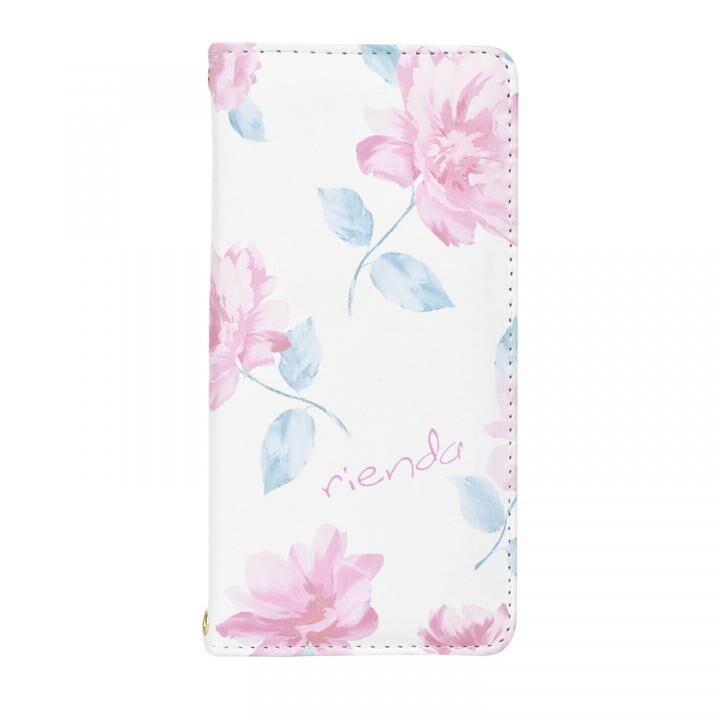 iPhone8/7/6s/6 ケース rienda 全面 手帳型ケース Lace Flower/ホワイト iPhone SE 第2世代/8/7/6s/6_0