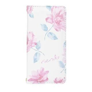 rienda 全面 手帳型ケース Lace Flower/ホワイト iPhone 8/7/6s/6