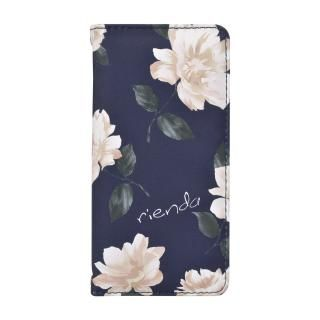 iPhone SE 第2世代 ケース rienda 全面 手帳型ケース Lace Flower/ネイビー iPhone SE 第2世代/8/7/6s/6