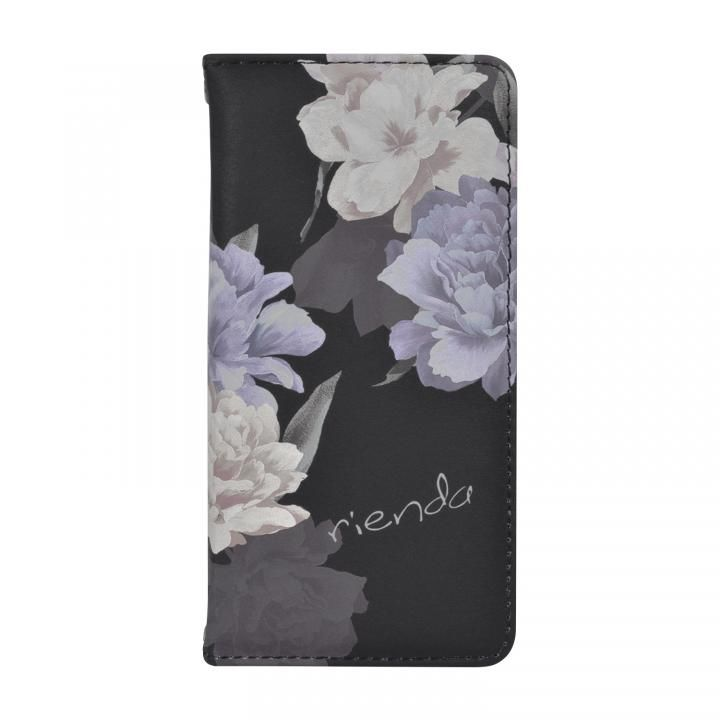 iPhone8/7/6s/6 ケース rienda 全面 手帳型ケース Layer Flower/ブラック iPhone 8/7/6s/6_0