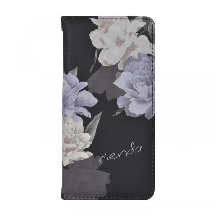 iPhone8/7/6s/6 ケース rienda 全面 手帳型ケース Layer Flower/ブラック iPhone SE 第2世代/8/7/6s/6_0