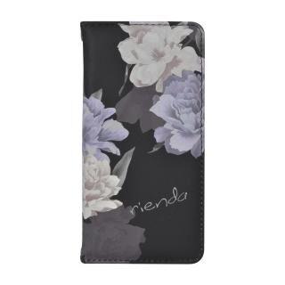 iPhone SE 第2世代 ケース rienda 全面 手帳型ケース Layer Flower/ブラック iPhone SE 第2世代/8/7/6s/6