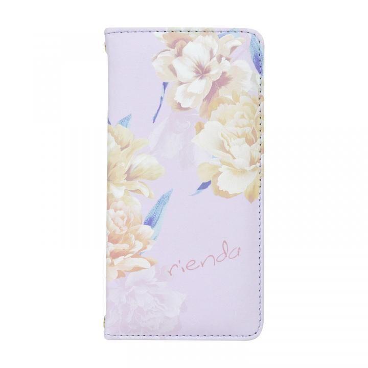 iPhone8/7/6s/6 ケース rienda 全面 手帳型ケース Layer Flower/パープル iPhone SE 第2世代/8/7/6s/6_0
