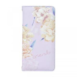 iPhone SE 第2世代 ケース rienda 全面 手帳型ケース Layer Flower/パープル iPhone SE 第2世代/8/7/6s/6