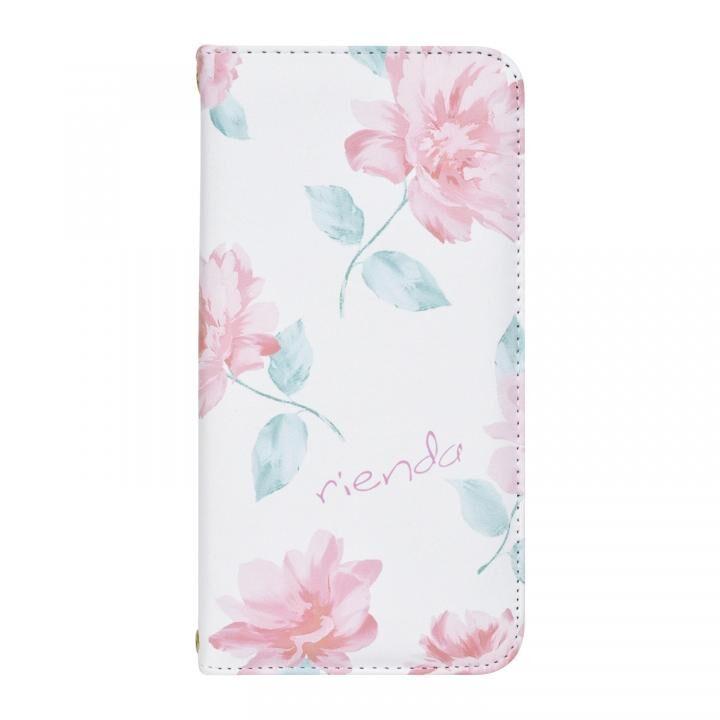 iPhone XS/X ケース rienda 全面 手帳型ケース Lace Flower/ホワイト iPhone XS/X【8月下旬】_0