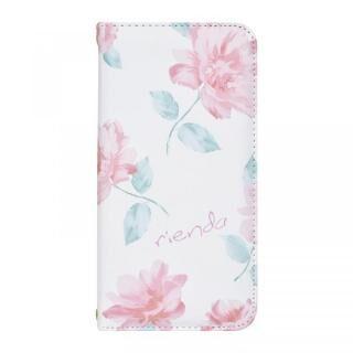 iPhone XS/X ケース rienda 全面 手帳型ケース Lace Flower/ホワイト iPhone XS/X【9月下旬】