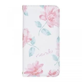 iPhone XS/X ケース rienda 全面 手帳型ケース Lace Flower/ホワイト iPhone XS/X