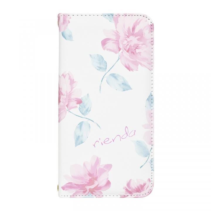 iPhone XR ケース rienda 全面 手帳型ケース Lace Flower/ホワイト iPhone XR_0