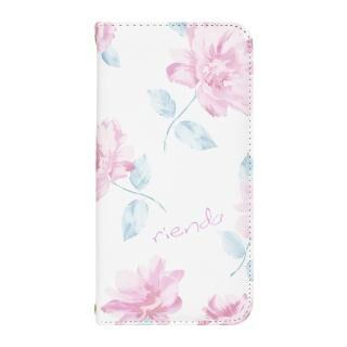 iPhone XR ケース rienda 全面 手帳型ケース Lace Flower/ホワイト iPhone XR