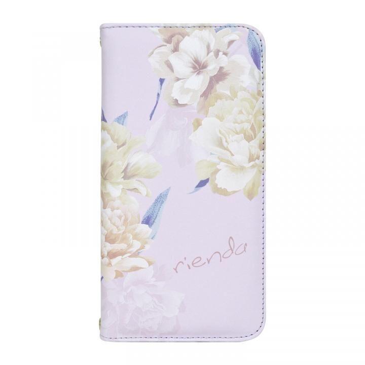 iPhone XR ケース rienda 全面 手帳型ケース Layer Flower/パープル iPhone XR_0