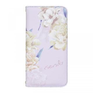 iPhone XR ケース rienda 全面 手帳型ケース Layer Flower/パープル iPhone XR