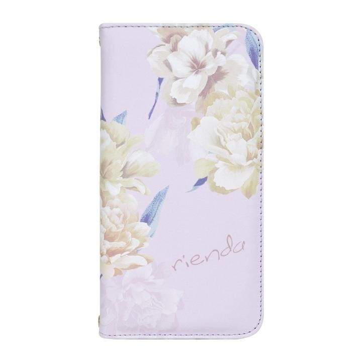 iPhone XS Max ケース rienda 全面 手帳型ケース Layer Flower/パープル iPhone XS Max【9月下旬】_0